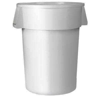 Bronco 20 Gal. White Round Trash Can (6-Pack)