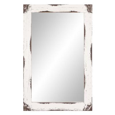 Medium Rectangle White Mirror (23.5 in. H x 36 in. W)
