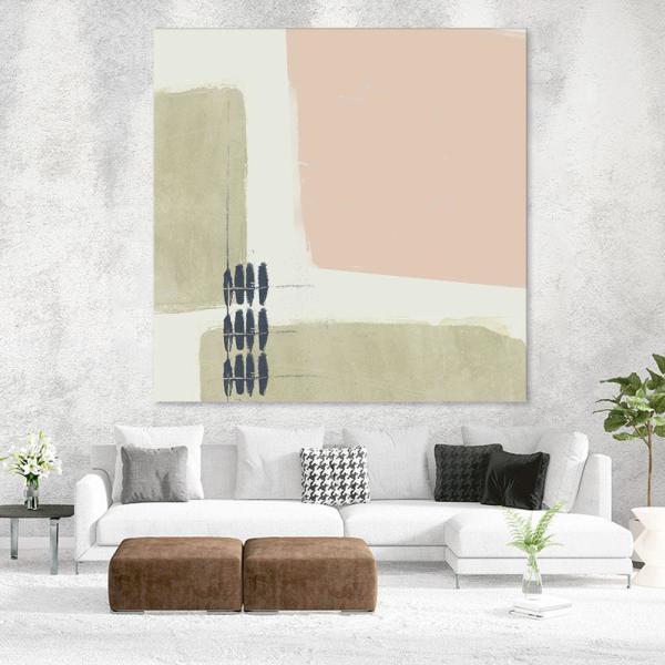 Giant Art 72 In X 72 In Monotype Abstraction I By Jennifer Goldberger Canvas Wall Art Wag126968a3 The Home Depot