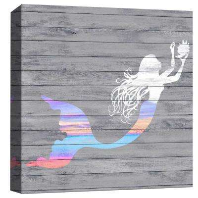 15 in. x 15 in. ''The Mermaid And The Sea'' By PTM Images Printed Canvas Wall Art