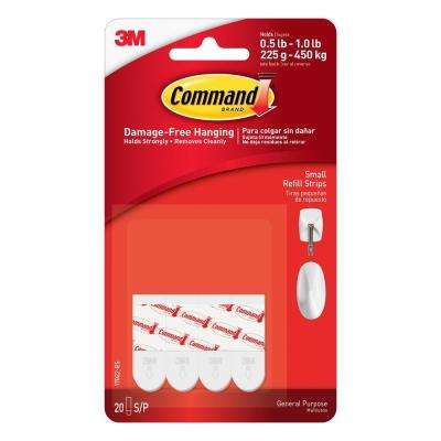1.125 in. Small White Refill Strips (20-Pack)