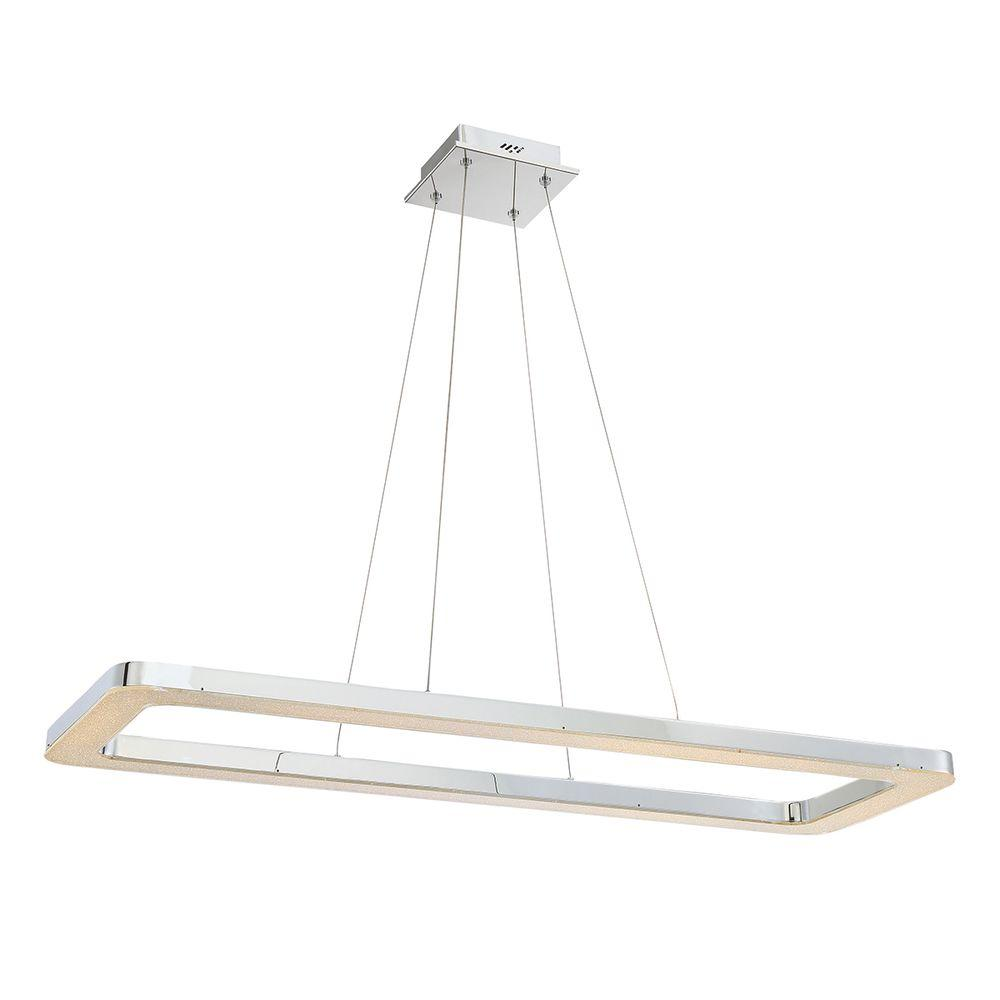 Eurofase zatina collection 1 light rectangular chrome led pendant eurofase zatina collection 1 light rectangular chrome led pendant aloadofball Gallery