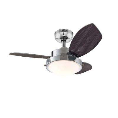 Wengue 30 in. Indoor Chrome Finish Ceiling Fan