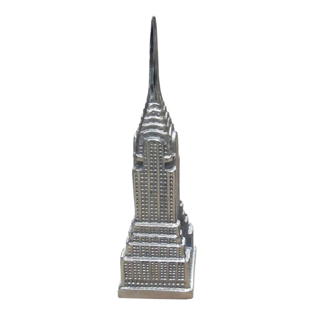 Filament Design Luna 14 in. Eiffel Tower Decorative Statue in Satin Nickel