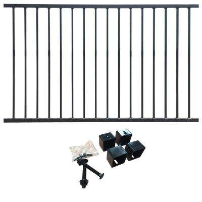 4 ft. H x 6.5 ft. W Traditional - Pre-Galvanized Steel, Flat Top/Flat Bottom Style Fence Panel Kit, Garden Fence