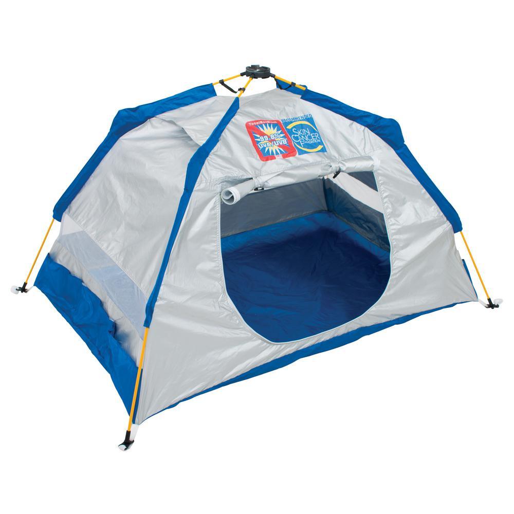 5 ft. W x 3.4 ft. L Total Sun Block Kids Pop-Up Beach Shelter