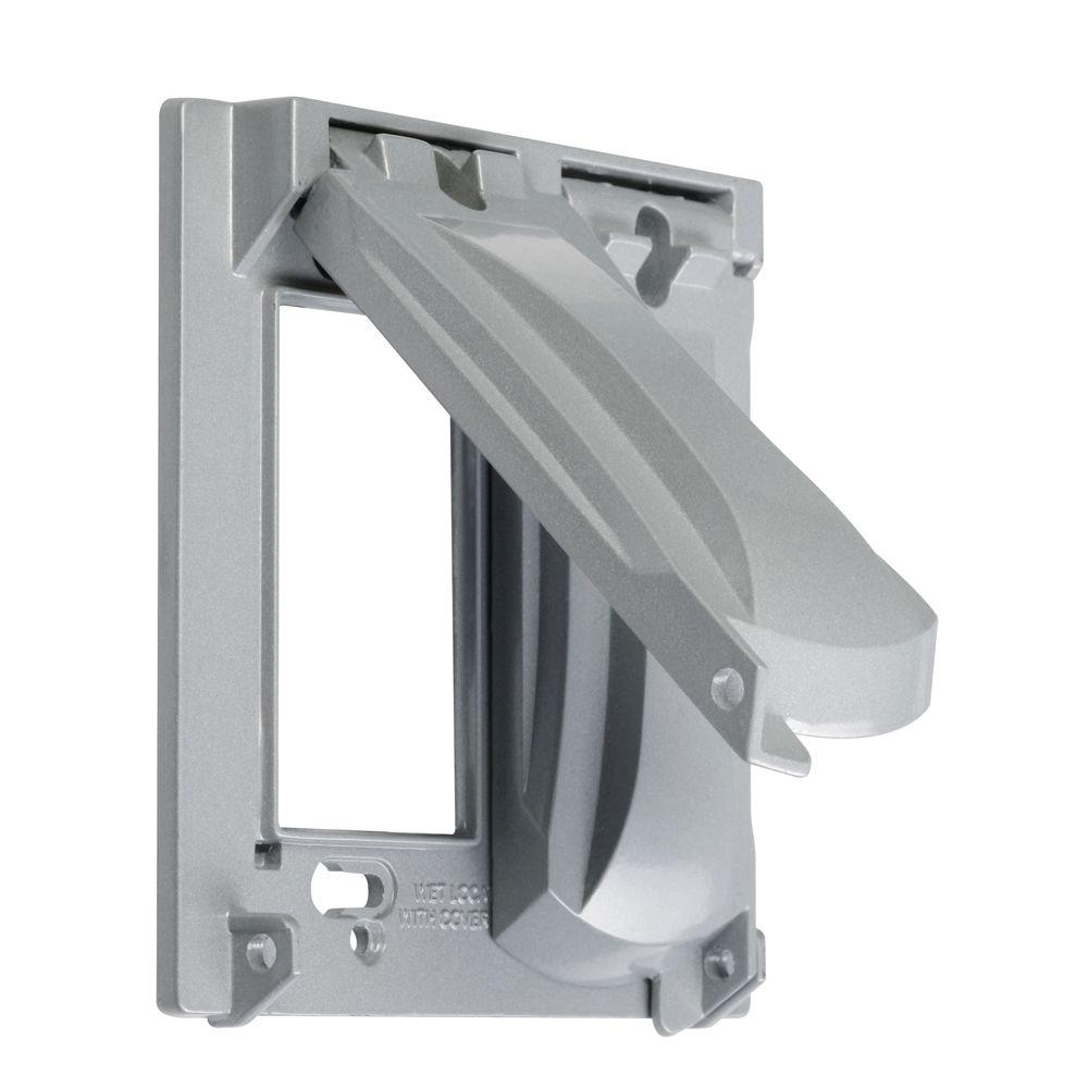 2-Gang Weatherproof Universal Flip Lid Device Covers