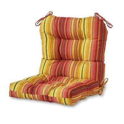 Kinnabari Stripe Outdoor Dining Chair Cushion