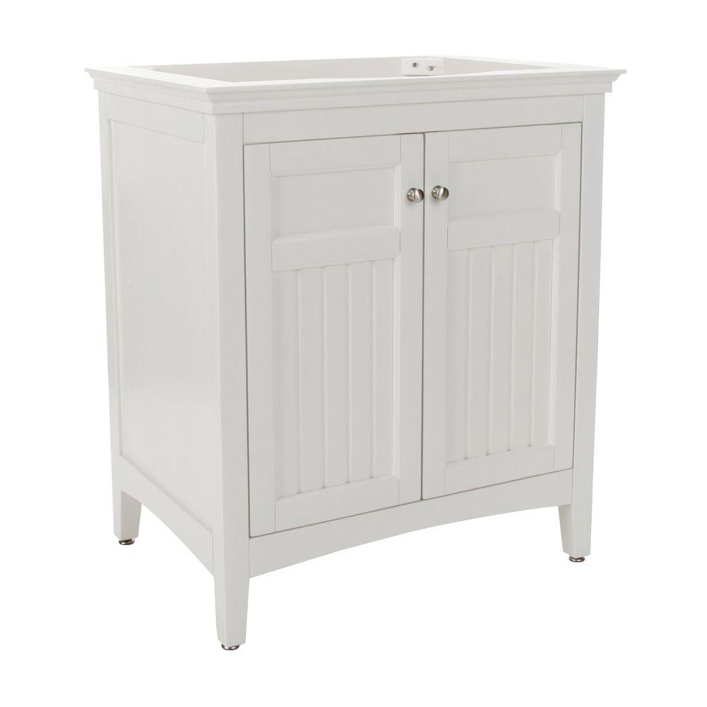 Pegasus Carrabelle 30 in. W x 21 in. D x 34 in. H Birch Vanity Cabinet Only in Glacier White-DISCONTINUED