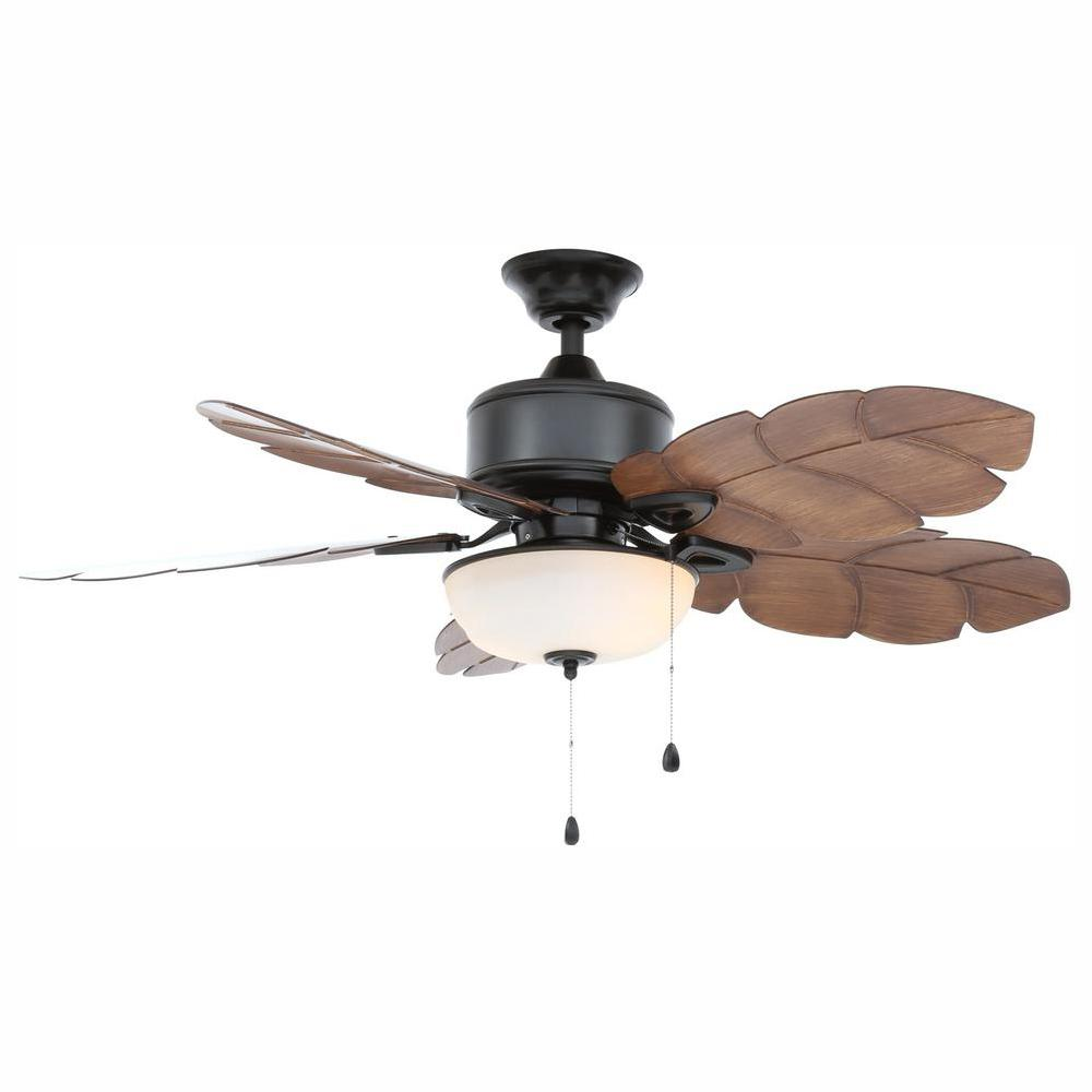 Outdoor Ceiling Fans Home Depot: Home Decorators Collection Palm Cove 52 In. LED Indoor