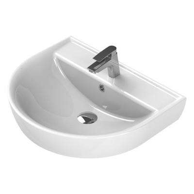 Bella Wall Mounted Bathroom Sink in White