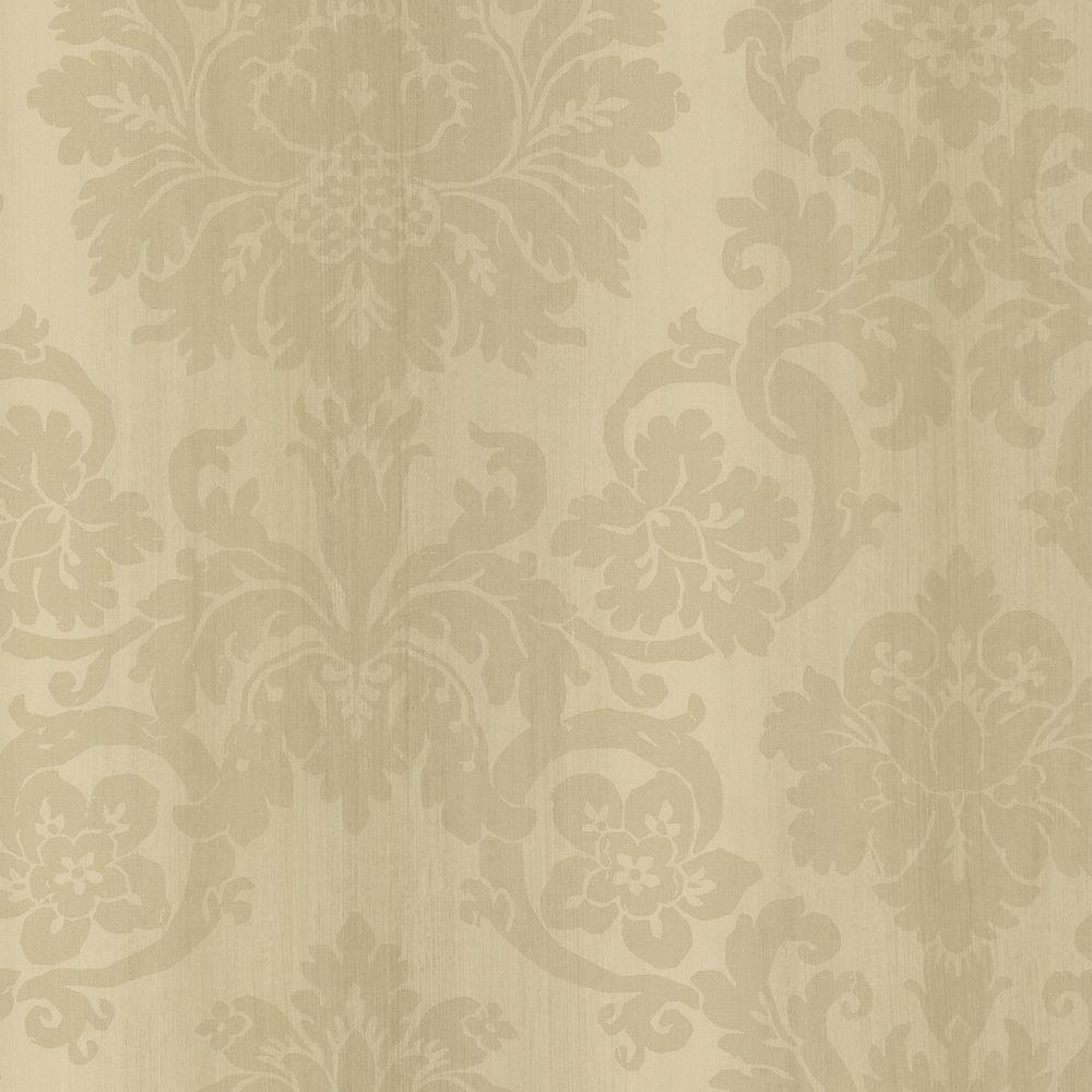 Brewster 56 sq. ft. Silk Damask Wallpaper