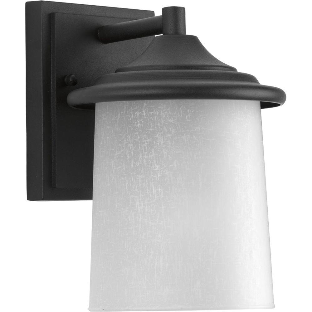 Essential Collection 1-Light Black 8.75 in. Outdoor Wall Lantern Sconce