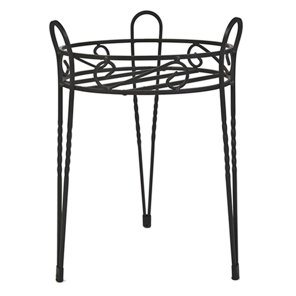 15 in. Canterbury Scroll Top Metal Plant Stand