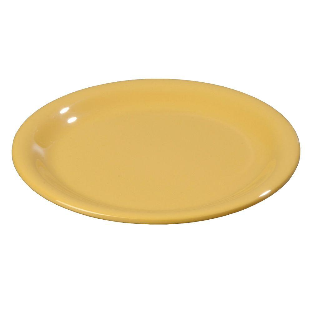 6.56 in. Diameter Melamine Narrow Rim Pie Plate in Honey Yellow