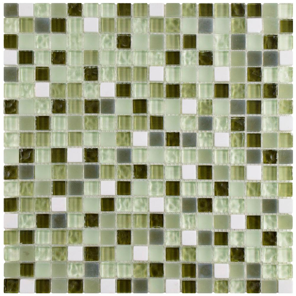 Merola Tile Tessera Subway Bordeaux 11-3/4 in. x 11-3/4 in. x 8 mm ...