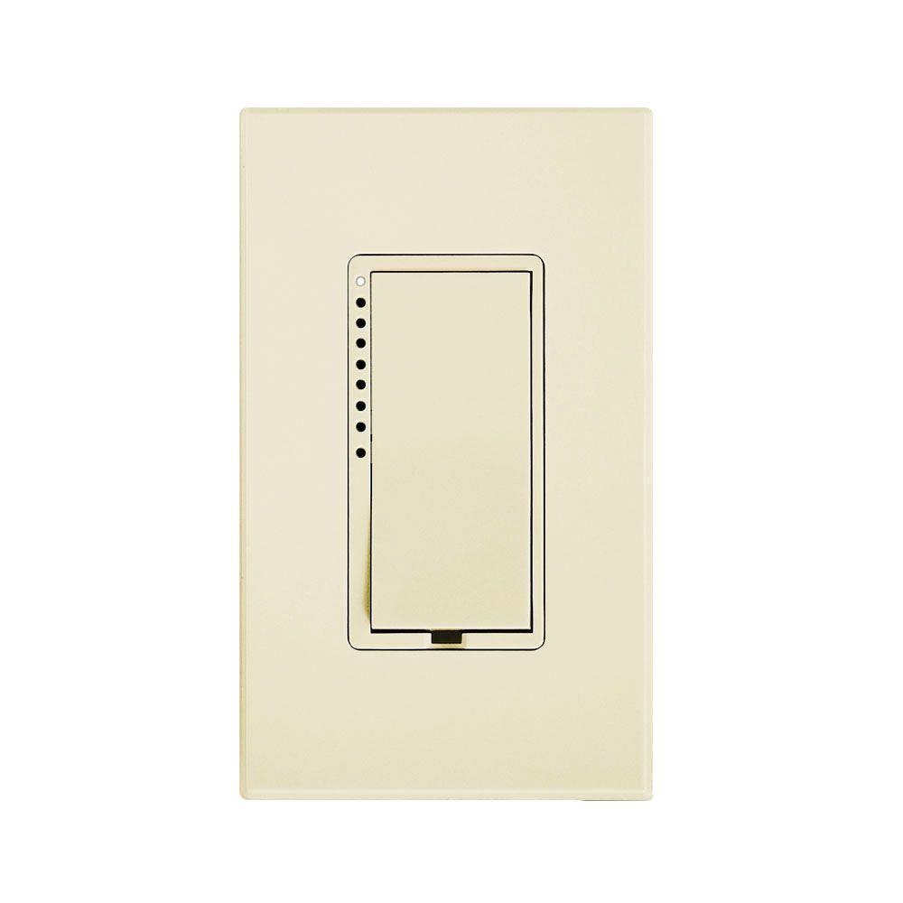 Insteon 25-Watt Multi-Location 2-Wire CFL-LED Dimmer - Ivory-2474DIV ...