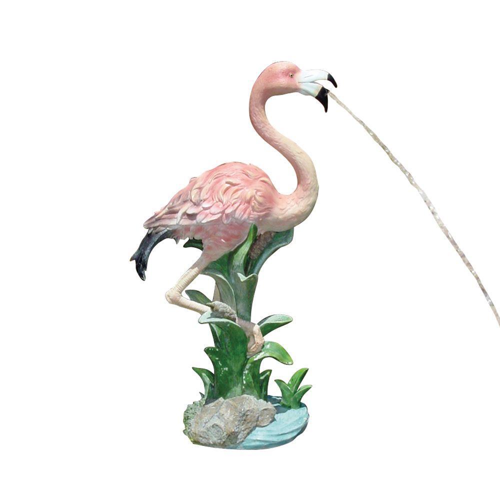 Beckett 25 in.H Miami Flamingo Pond Art Fountain-DISCONTINUED