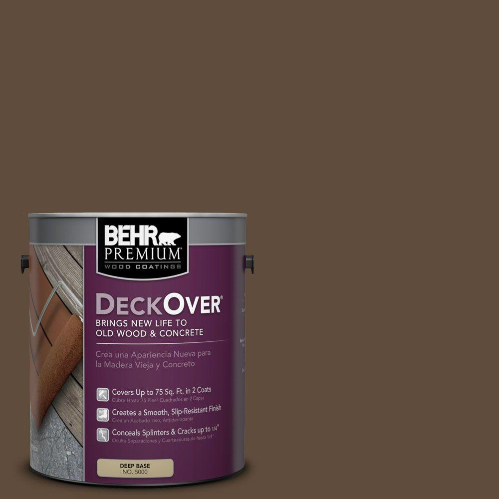 Behr premium deckover 1 gal sc 141 tugboat wood and for Behr deckover