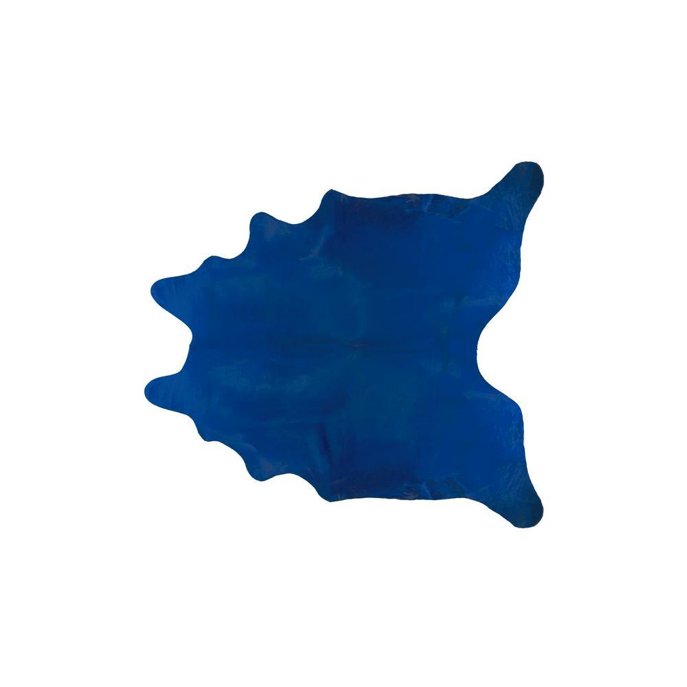 GENEVA COWHIDE COBALT BLUE 6 ft. x 7 ft. AREA RUG