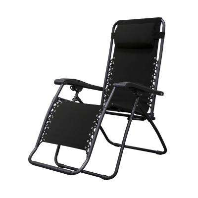 Infinity Black Metal Zero Gravity Patio Chair