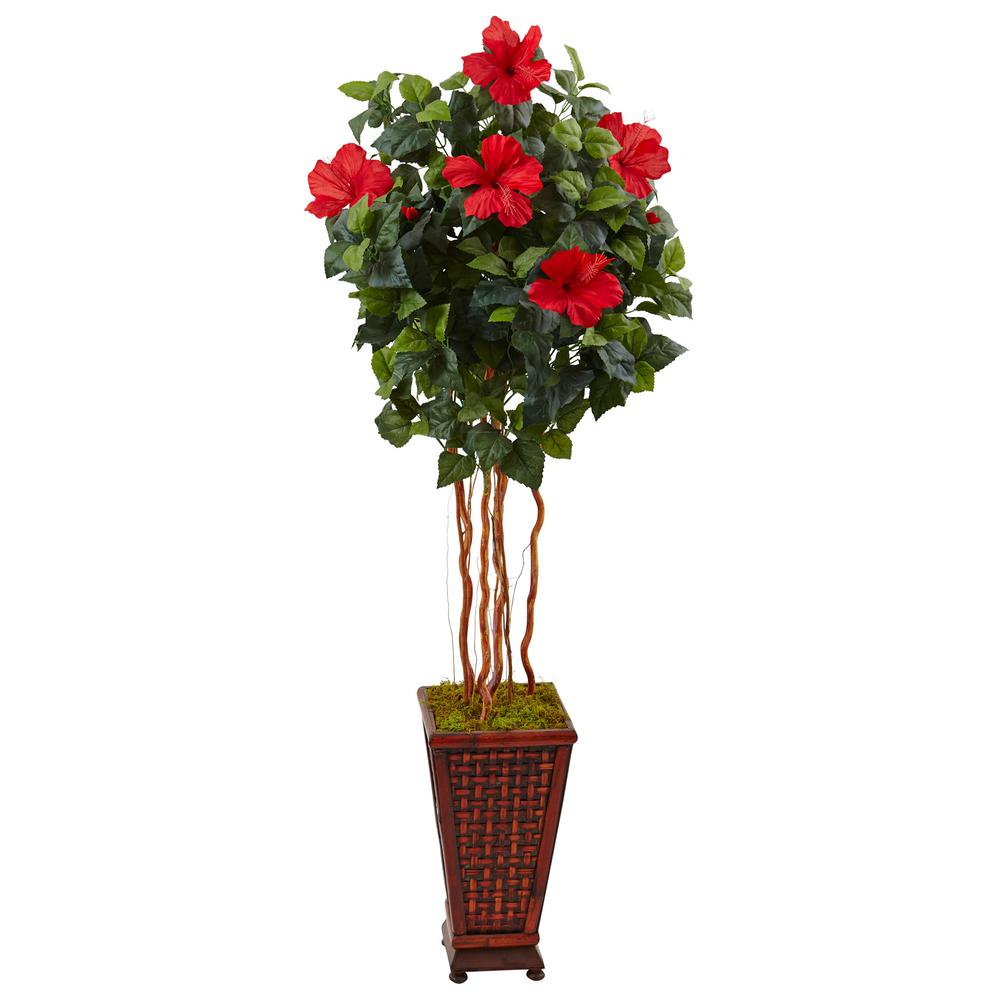 Nearly natural indoor hibiscus artificial tree in - Entretien hibiscus d interieur ...