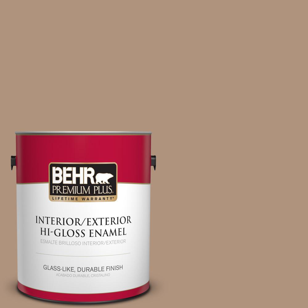 1 gal. #PPU4-04 Soft Chamois Hi-Gloss Enamel Interior/Exterior Paint