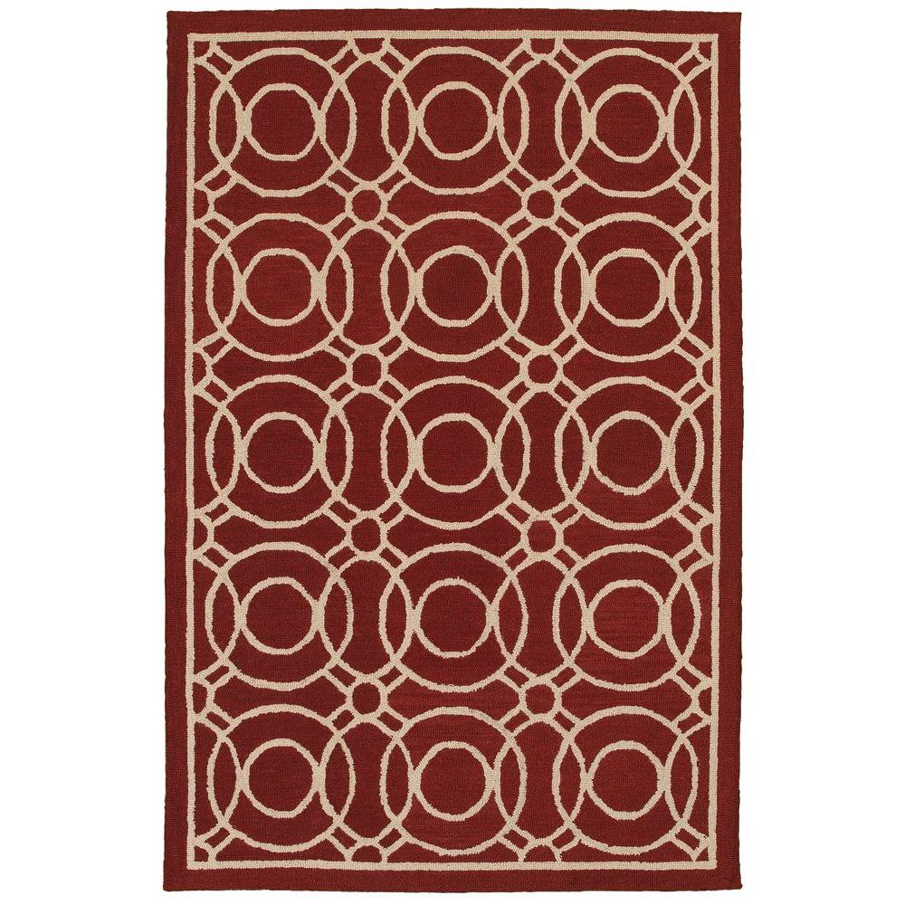 Dazzle Red 8 ft. x 10 ft. Indoor Area Rug