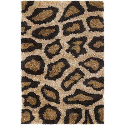 Amazon Tan/Gold/Brown/Black 5 ft. x 7 ft. 6 in. Indoor Area Rug