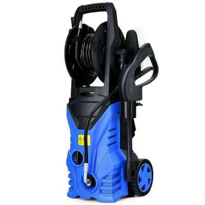 2030 PSI 1.7 GPM 1800-Watt Electric Pressure Washer Cleaner with Hose Reel in Blue