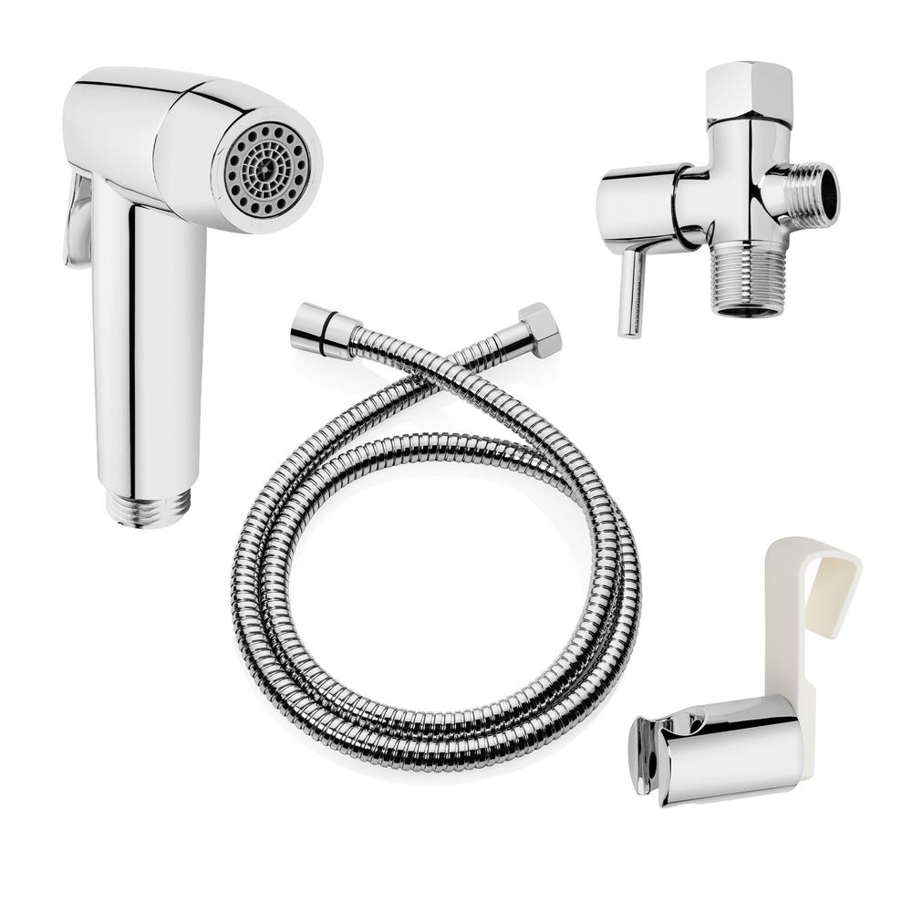 Brondell Cleanspa Easy Hand Held Bidet Sprayer In Chrome Cse 37 The Home Depot