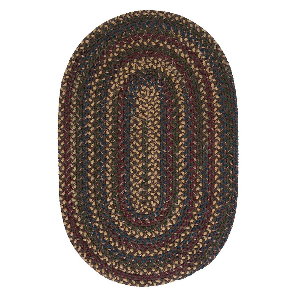 Home Decorators Collection Winchester Brown 8 Ft X 10 Oval Braided Area Rug