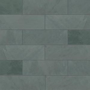 Montauk Blue 3 in. x 6 in. Gauged Slate Floor and Blue Subway Tile (5 sq. ft./Case)