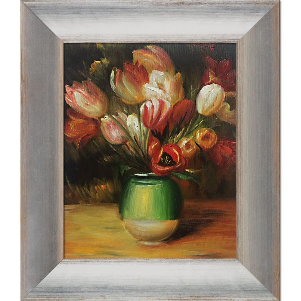 LA PASTICHE Tulips in a Vase with Spencer Rusticby Pierre-Auguste Renoir Oil Painting, Multi-Colored was $917.0 now $279.23 (70.0% off)