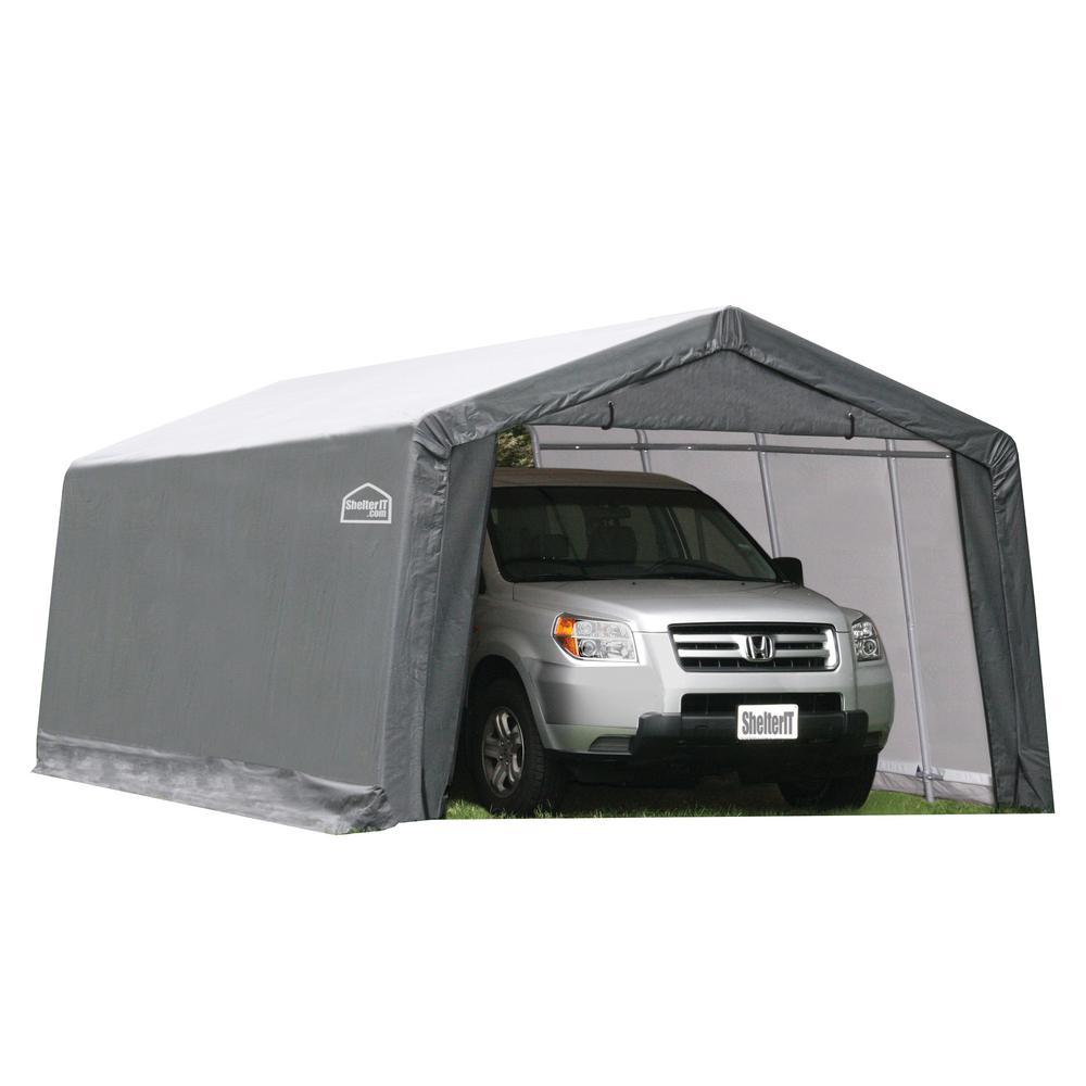 ShelterIT 10 ft. W x 20 ft. D x 8 ft. H Steel Frame/Polyethylene Instant Garage/Shed without Floor