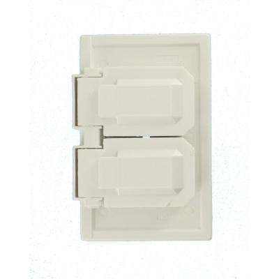 1-Gang Raintight, Weather Resistant, Duplex Receptacle, Horizontal Mount Wall Plate - White