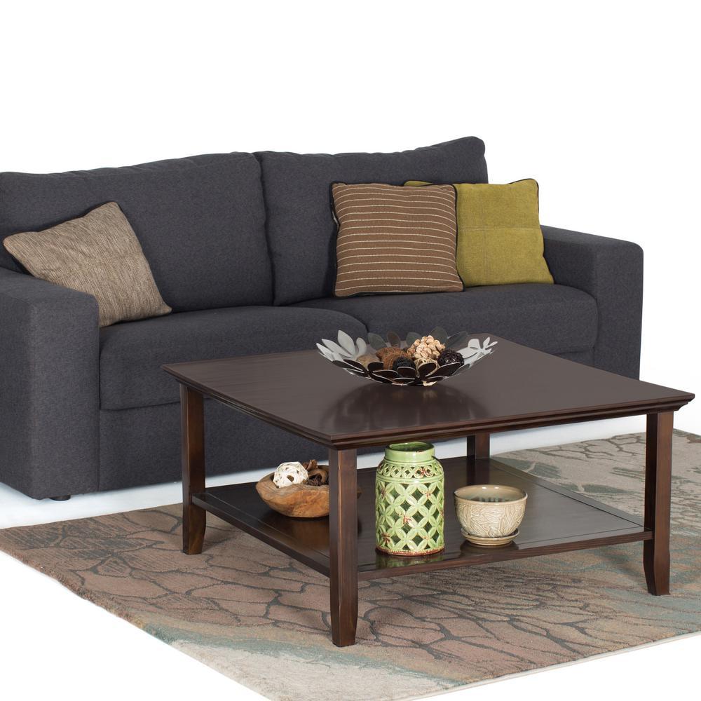 Simpli Home Acadian Tobacco Brown Storage Coffee Table AXWELL3 007