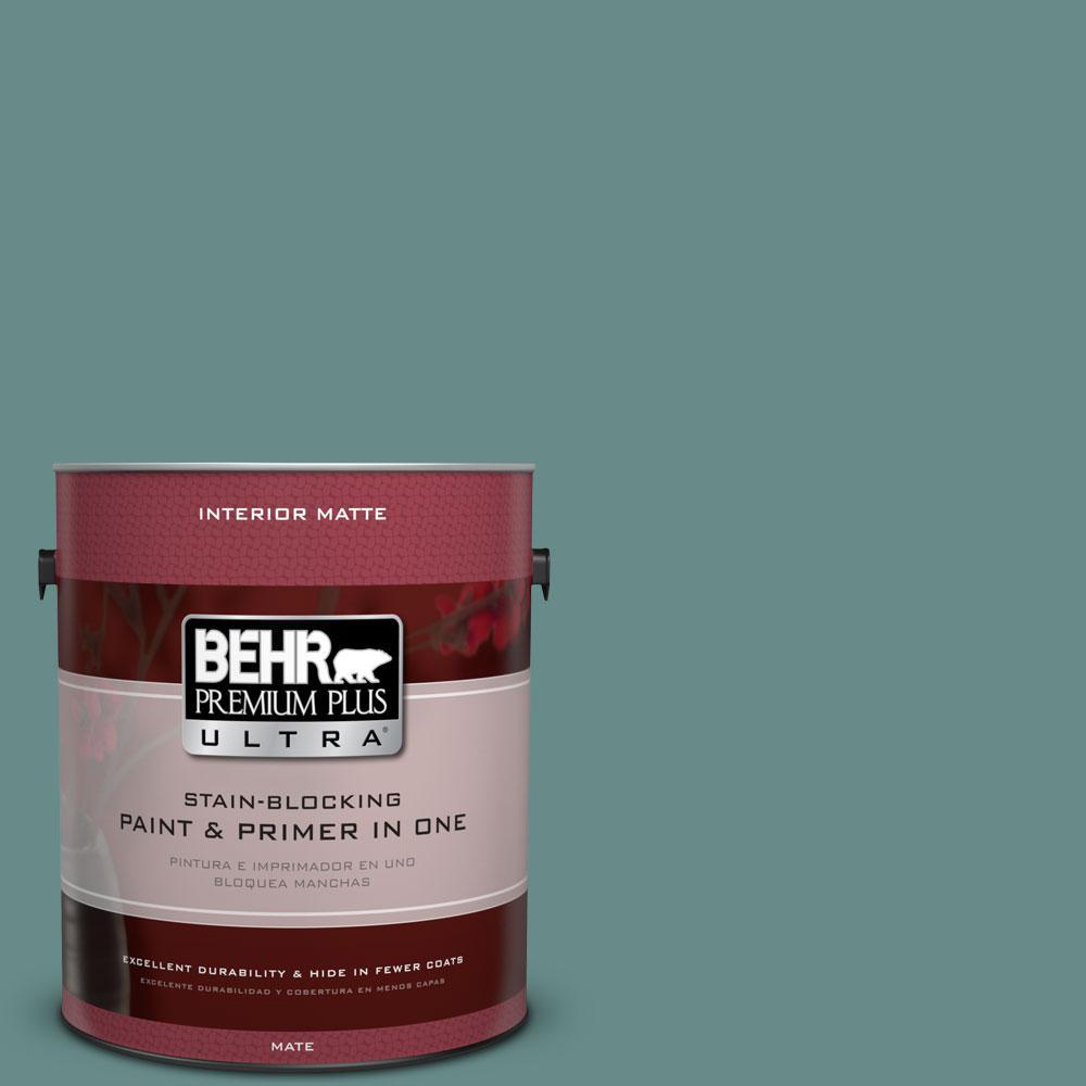 1 gal. #ECC-60-3 Pool Tide Matte Interior Paint and Primer in