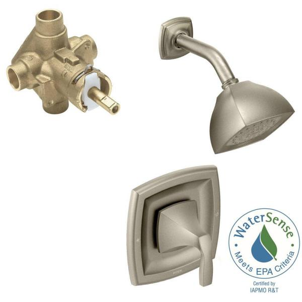 Voss Single-Handle 1-Spray Posi-Temp Shower Faucet Trim Kit with Valve in Brushed Nickel (Valve Included)