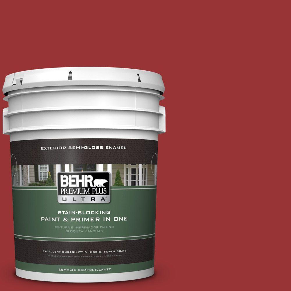 5-gal. #ECC-10-3 Holly Berry Semi-Gloss Enamel Exterior Paint