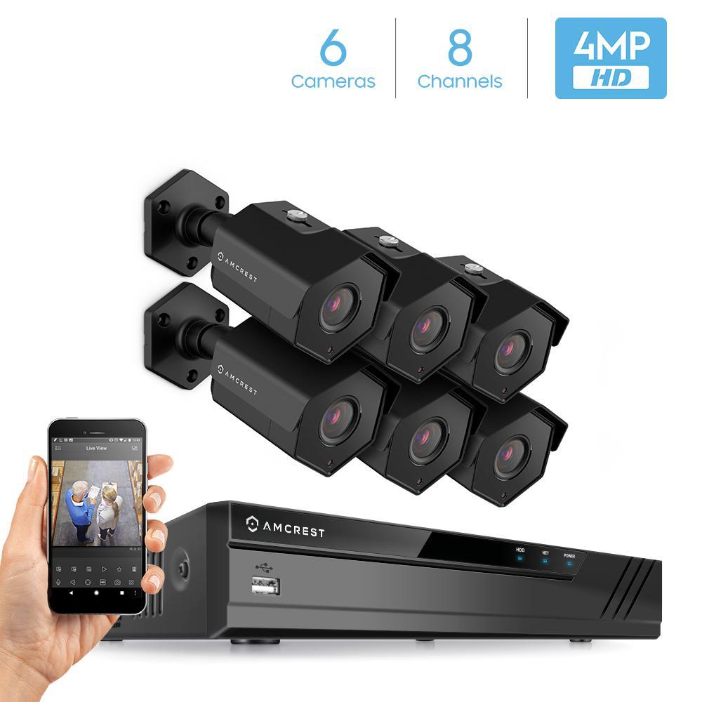 Amcrest Plug Amp Play H 265 8 Channel 4k Nvr 4mp 1440p