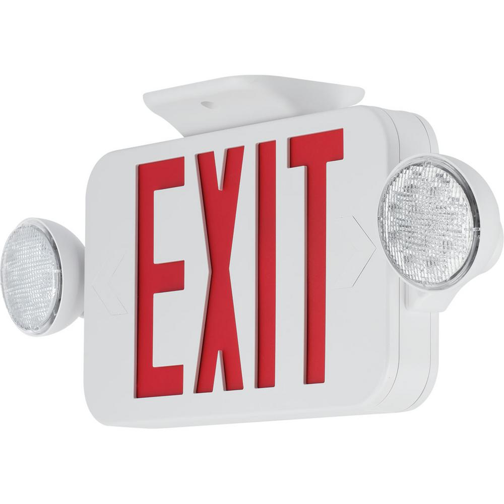 120-Volt White Integrated LED Exit Sign