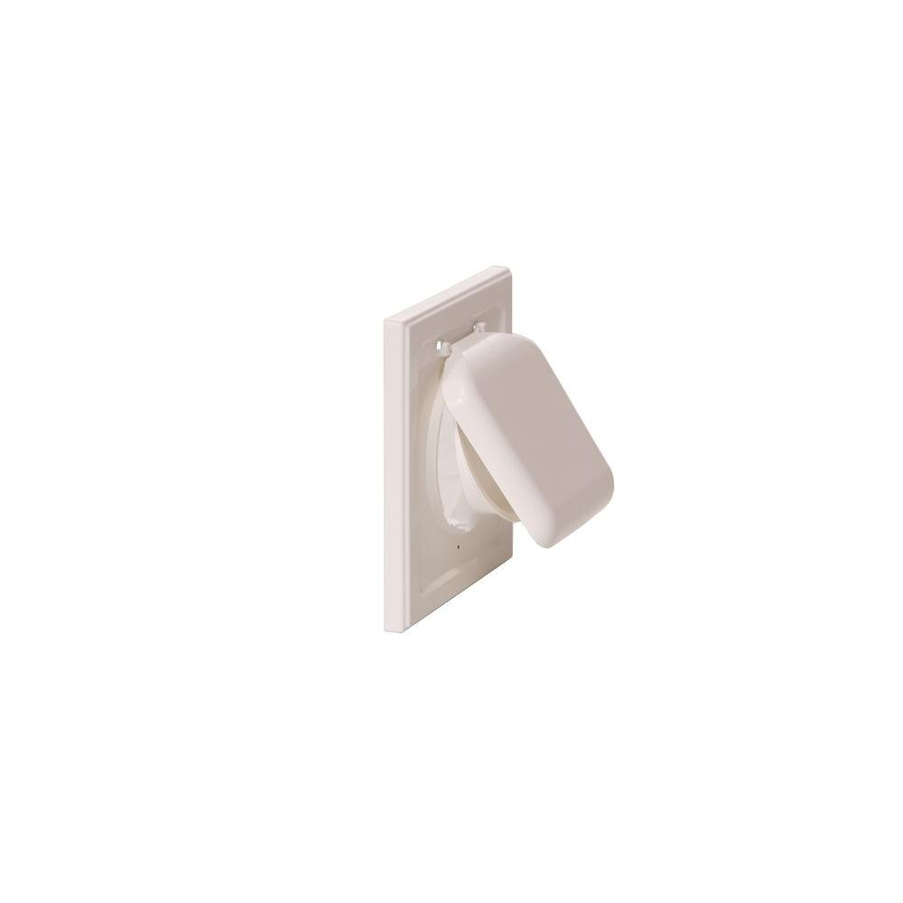 No Pest Vent 4 in. Wide-Mount Dual Door Wall Vent in