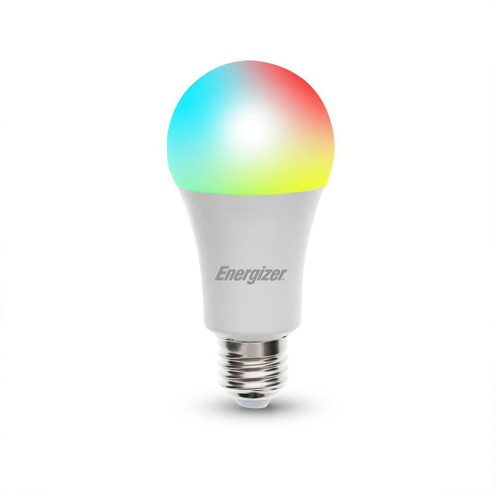 Energizer 60 Watt Equivalent A19 Smart Led Rgb Light Bulb Multi Color