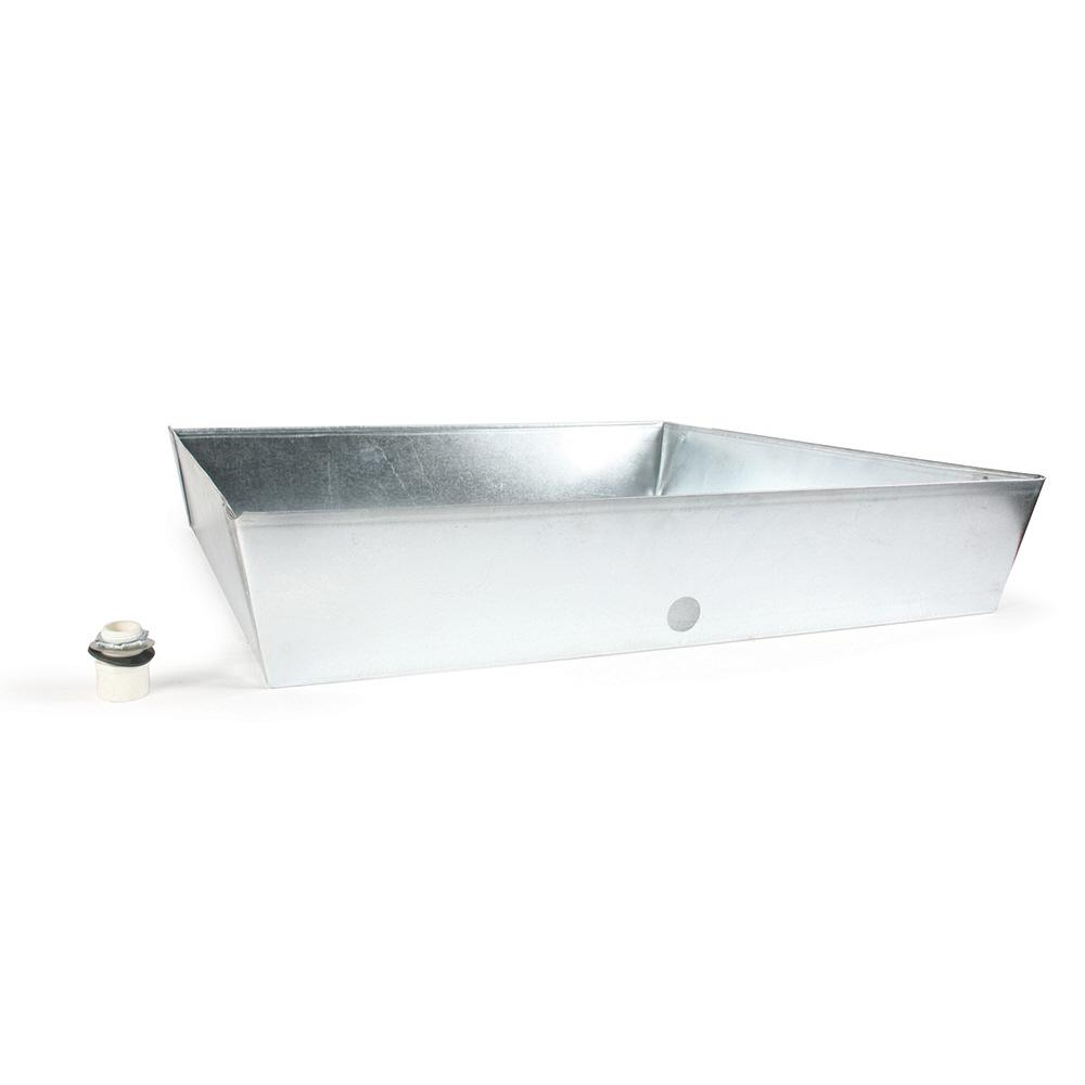 Camco 30 In X 30 In X 6 In Galvanized Water Heater Drain Pan 20932 The Home Depot