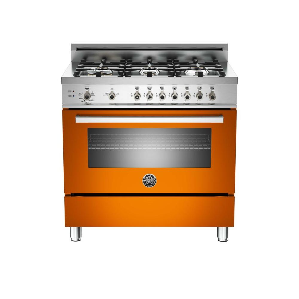 36 in. 4.4 cu. ft. Gas Range with Manual-Cleaning Convection Oven