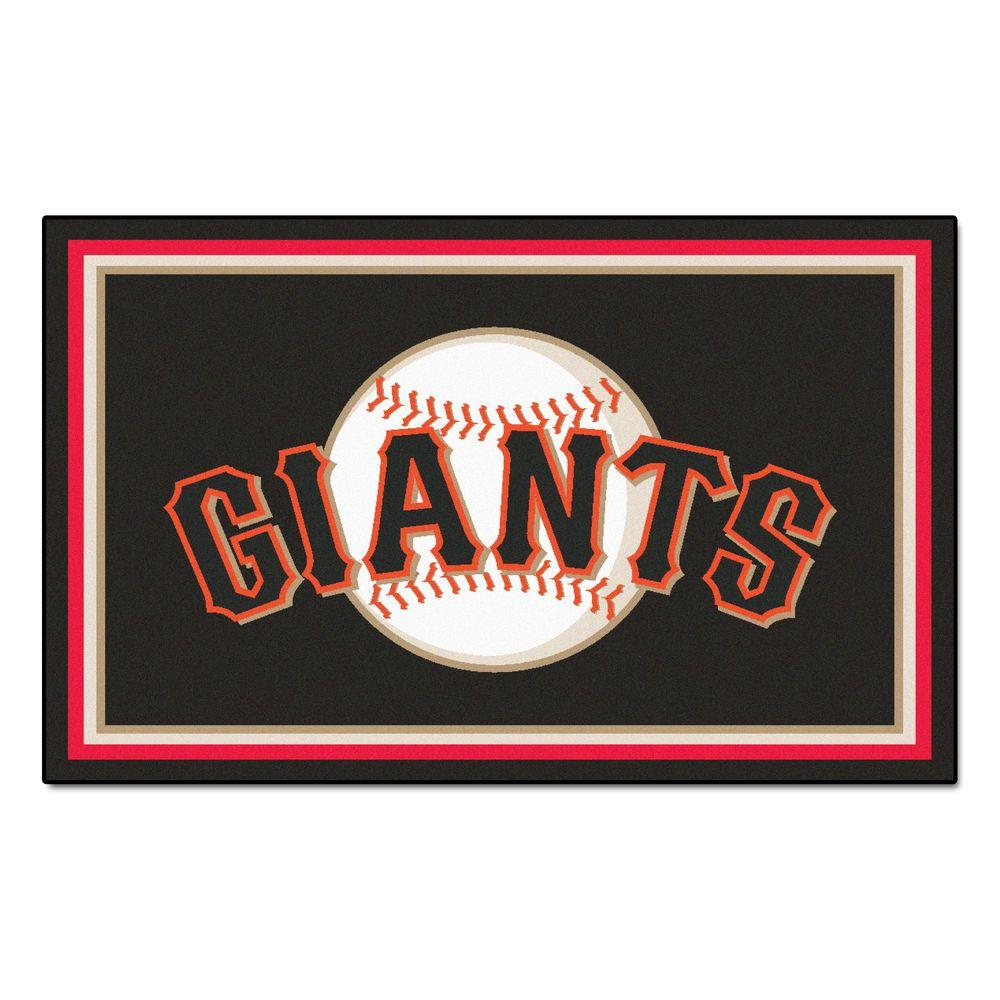 Fanmats San Francisco Giants 4 Ft X 6 Ft Area Rug 7081
