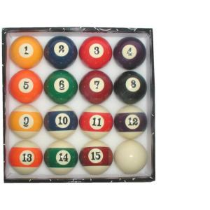 Trademark big numbers billiard pool ball set 40 bnballs the home depot - Pool table supplies near me ...