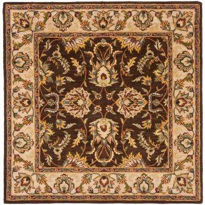 Heritage Brown/Ivory 8 ft. x 8 ft. Square Area Rug