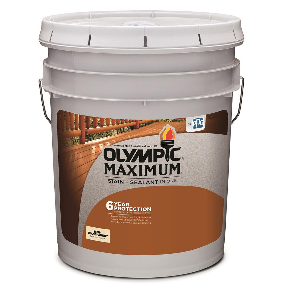 Maximum 5 gal. Neutral Base Semi-Transparent Exterior Stain and Sealant in